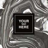 Fundo marmoreando abstrato em cores cinzentas e brancas para o invita Fotos de Stock Royalty Free