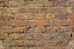 Fundo marrom áspero velho da textura da parede de tijolos imagens de stock royalty free