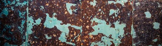 Fundo marrom-ciano oxidado da parede foto de stock royalty free