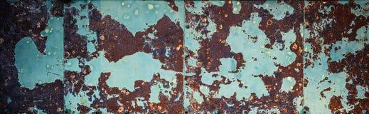 Fundo marrom-ciano oxidado da parede fotos de stock