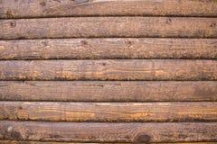 Fundo marrom de madeira Fotos de Stock Royalty Free