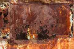 Fundo marrom oxidado do grunge com espaço para o texto ou a imagem Fotografia de Stock