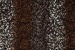 Fundo marrom tricotado manualmente Imagens de Stock Royalty Free