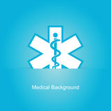 Fundo médico azul Foto de Stock Royalty Free