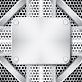 Fundo metálico Fotografia de Stock