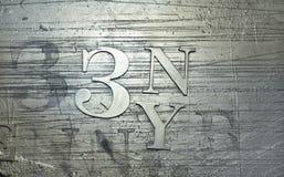 Fundo metálico abstrato com sinais Foto de Stock Royalty Free