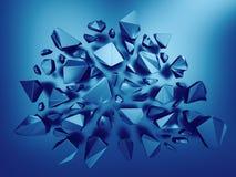 Fundo metálico abstrato dos cristais 3d ilustração stock