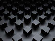 Fundo metálico preto com cubos Fotos de Stock Royalty Free