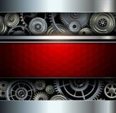 Fundo metálico com engrenagens Foto de Stock Royalty Free