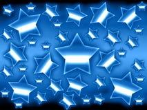 Fundo metálico das estrelas Ilustração Stock