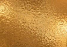 Fundo metálico do ouro, textura de linho, fundo festivo brilhante imagens de stock