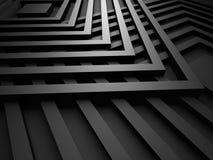 Fundo metálico do projeto preto com quadrados Imagem de Stock Royalty Free