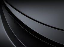 Fundo metálico elegante com linhas da curva Fotografia de Stock