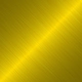 Fundo metálico escovado do ouro Imagens de Stock