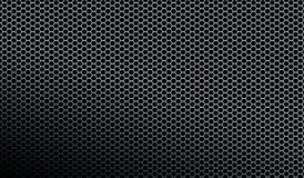 Fundo metálico escuro da textura do teste padrão da malha Foto de Stock