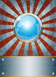 Fundo metálico futurista Imagens de Stock Royalty Free