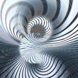 Fundo metálico futurista de Mordern com espirais Imagem de Stock