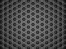 Fundo metálico industrial de prata escuro do teste padrão do hexágono ilustração stock