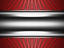 Fundo metálico lustroso abstrato da Olá!-tecnologia com teste padrão do hexágono ilustração royalty free