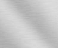 Fundo metálico de prata escovado Foto de Stock Royalty Free