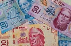 Fundo mexicano diferente do dinheiro Imagem de Stock Royalty Free