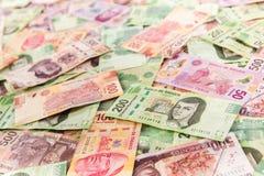 Fundo mexicano do dinheiro Fotografia de Stock