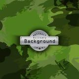Fundo militar do teste padrão da camuflagem Vetor Fotos de Stock