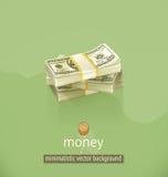 Fundo minimalistic do vetor do dinheiro Imagens de Stock Royalty Free