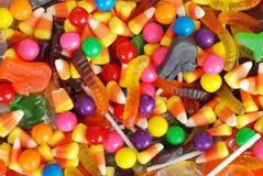 Fundo misturado dos doces de Halloween Foto de Stock
