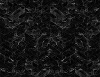 Fundo modelado mármore do ziguezague de Chevron preto e branco Fotografia de Stock