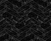 Fundo modelado mármore do ziguezague de Chevron preto e branco foto de stock royalty free