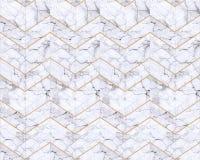 Fundo modelado mármore do ziguezague de Chevron preto e branco Fotografia de Stock Royalty Free