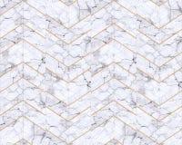 Fundo modelado mármore do ziguezague de Chevron preto e branco fotos de stock