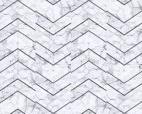 Fundo modelado mármore do ziguezague de Chevron preto e branco imagens de stock royalty free