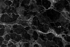 Fundo modelado preto e branco de mármore natural abstrato da textura para o projeto do papel de parede dos interiores foto de stock royalty free