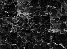 Fundo modelado preto e branco de mármore natural abstrato da textura para o projeto do papel de parede dos interiores imagem de stock