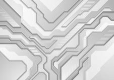 Fundo moderno abstrato cinzento da tecnologia ilustração royalty free