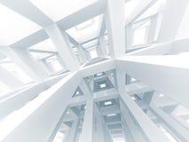 fundo moderno abstrato da arquitetura 3d Fotos de Stock Royalty Free
