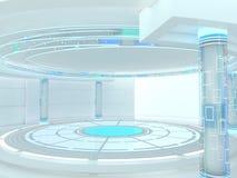 Fundo moderno abstrato da arquitetura rendição 3d Foto de Stock Royalty Free