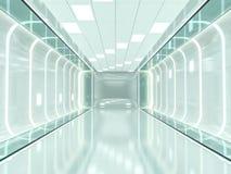 Fundo moderno abstrato da arquitetura rendição 3d Fotografia de Stock Royalty Free