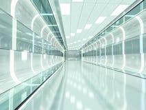 Fundo moderno abstrato da arquitetura rendição 3d Imagem de Stock Royalty Free