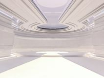 Fundo moderno abstrato da arquitetura rendição 3d Imagens de Stock