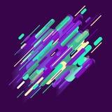 Fundo moderno abstrato da composição com elementos originais coloridos Imagens de Stock