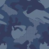 Fundo moderno da camuflagem do ponto Vetor sem emenda do teste padr?o ilustração do vetor