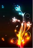 Fundo moderno de néon Imagem de Stock Royalty Free