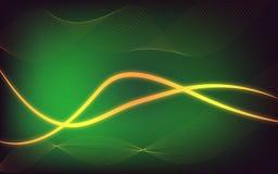 Fundo moderno do fulgor do sum?rio com tema verde ilustração royalty free