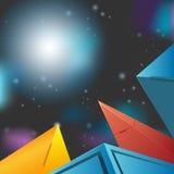 Fundo moderno do polígono Ilustração Royalty Free