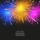 Fundo moderno dos fogos-de-artifício criativos do vetor Imagens de Stock