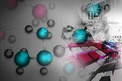 Fundo molecular Fotos de Stock Royalty Free