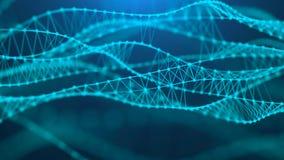 Fundo molecular com ADN Conceito da rede com pontos e linhas de conex?o Visualiza??o grande dos dados rendi??o 3d ilustração royalty free